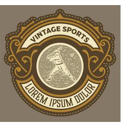 old retro baseball logoorganized layers vector image