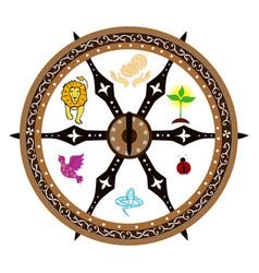 On theme spiritual rebirth vector
