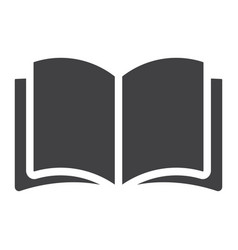 open book glyph icon web and mobile read mode vector image vector image