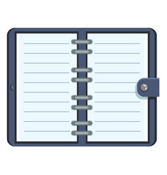 Organizer with blank lined pages vector