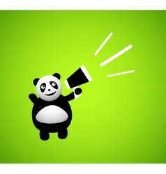 Panda cartoon character vector image