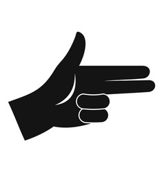 pistol hand sign icon simple style vector image