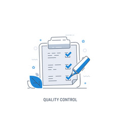 Quality control check vector