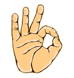 Realistic okay hand gesture icon graphic vector