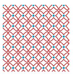 Red flower pattern 35 vector