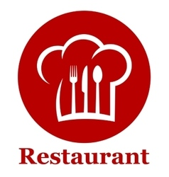 red restaurant icon vector image