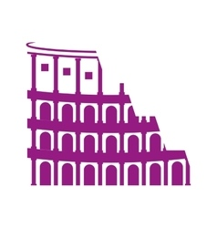 Rome coliseum landmark icon vector