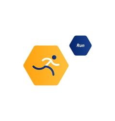Running logo sport event icon vector