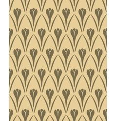 Seamless floral pattern Crocus flower vintage vector