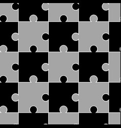 seamless grey pattern puzzle vector image