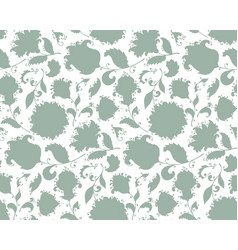 seamless pattern with hand drawn paisley vector image