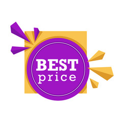 Shopping isolated icon price tag logo buying and vector