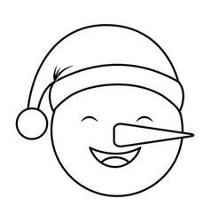 Snowman with winter hat vector