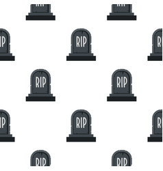 Stone tombstone rip pattern seamless vector