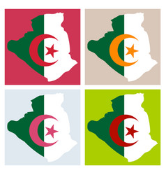 Stylized algeria map showing big cities capital vector