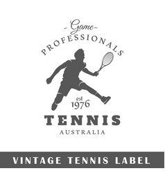 Tennis label vector