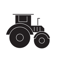 tractor black concept icon tractor flat vector image