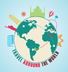 travel arround the world vector image