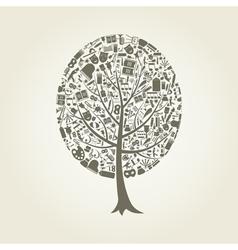 Tree art vector