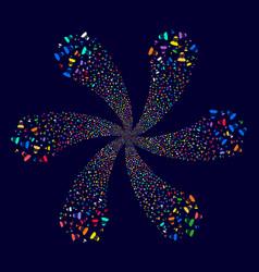 User cyclonic flower shape vector