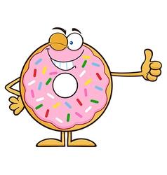 Winking Donut Cartoon vector