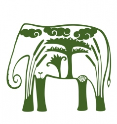 natural elephant vector image vector image