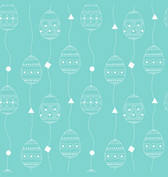 seamless pattern with white contour eggs vector image