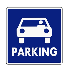 Autocar parking sign vector image