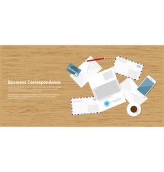 business correspondence vector image vector image