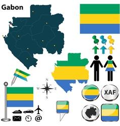 Gabon map vector image vector image