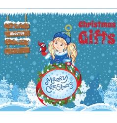 Kid Christmas Template vector image
