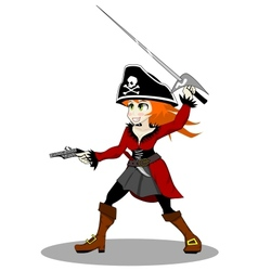 pirate woman vector image vector image