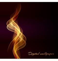 Shiny color waves over dark backgrounds vector image vector image