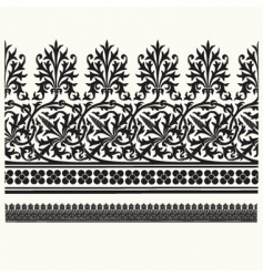 thorn border element vector image vector image