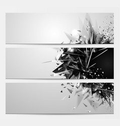 geometric abstract backgrounds with black color vector image vector image