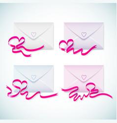 gift envelopes set vector image