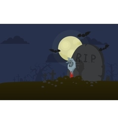 hand from the grave vector image vector image