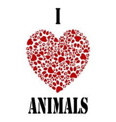 I love animals vector image