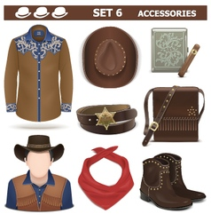 Male Accessories Set 6 vector image