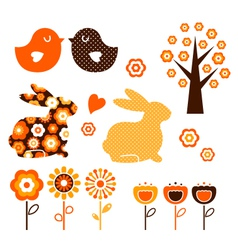 Retro spring easter design vector image vector image