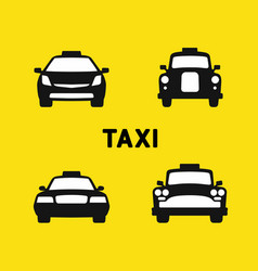 taxi various times vector image vector image