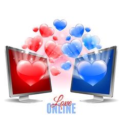 Virtual love vector image vector image