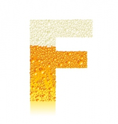 alphabet beer f vector image vector image