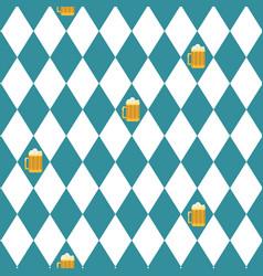 beer oktoberfest seamless pattern vector image