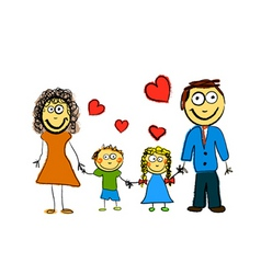 cute family vector image vector image