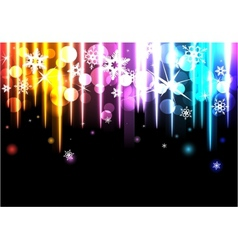 Disco background with snowflakes vector image vector image