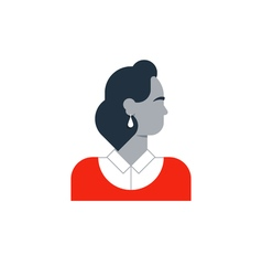 Woman side view turned head vector image
