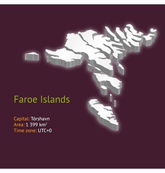 3d map of the Faroe Islands vector image