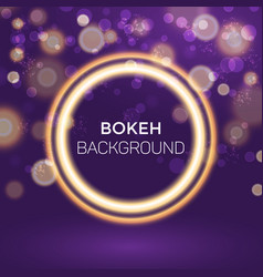 abstract golden ring bokeh background vector image