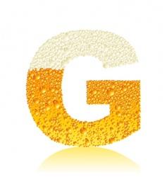 Alphabet beer g vector